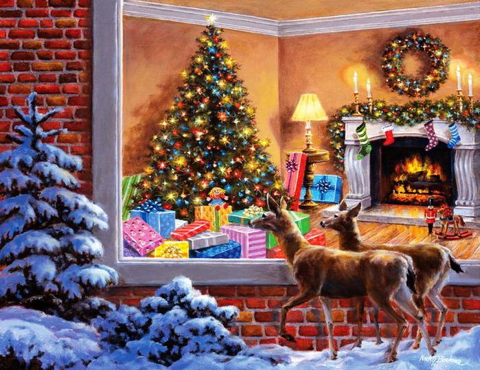 новогодние картинки с ёлками