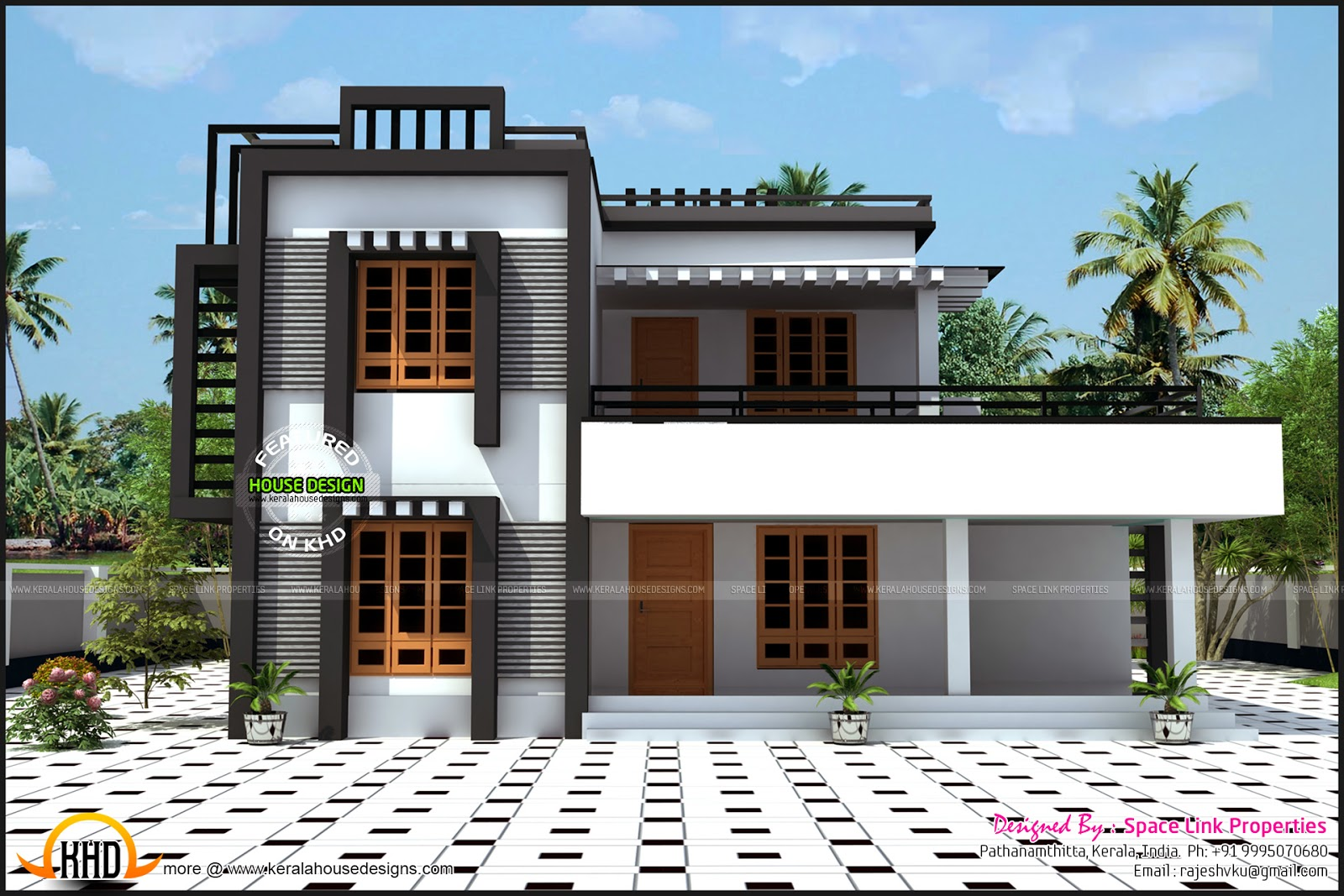 2380 sq ft box type house kerala home design and floor plans for Modern roof design types