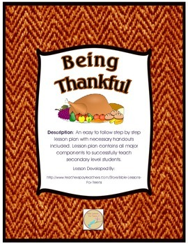 http://www.teacherspayteachers.com/Product/Instant-Bible-Lesson-Being-Thankful-1545412