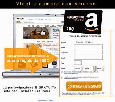 buono Amazon da 150 euro