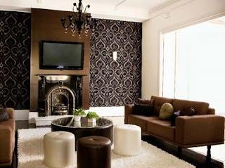 Sala decoração castanho