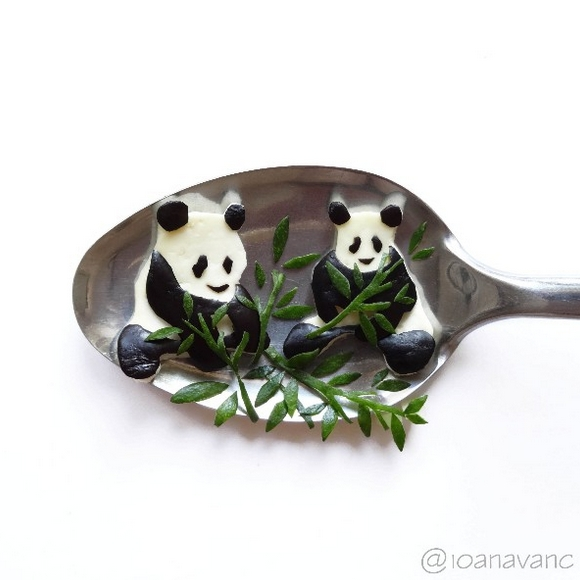 14-Panda-Bears-Ioana-Vanc-Food-Art-using-Chocolate-Vegetables-and-Fruit-www-designstack-co