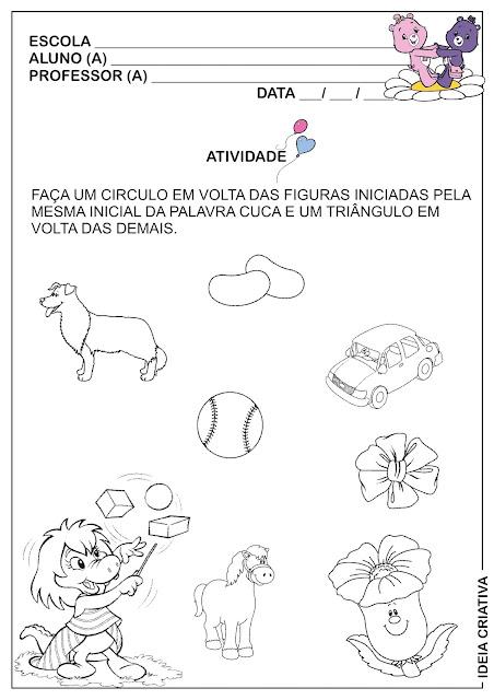 Atividade Interdisciplinar  Folclore Figuras Geométricas e Letra C