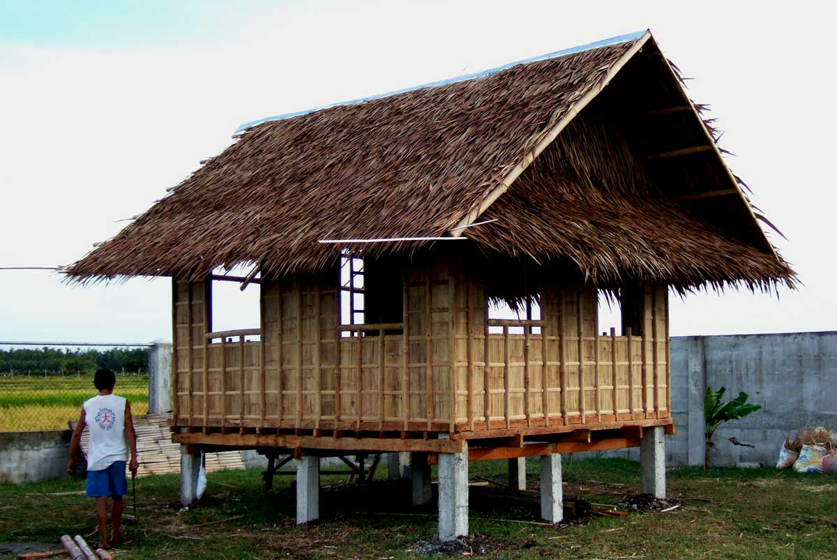 Bamboo lamp photo bamboo house designs in the philippines for Small house design native