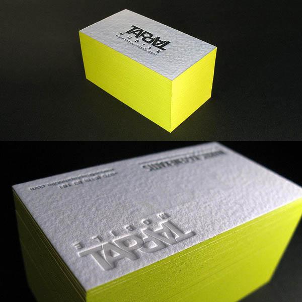 Tarjeta con bordes de colores