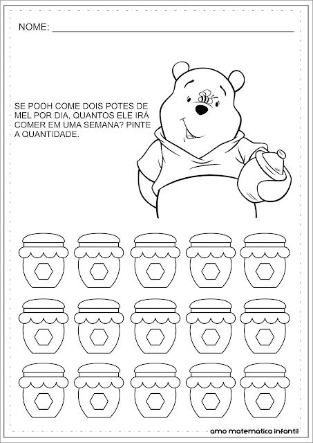 Multiplicação Simples Pooh Atividades Numeral 6