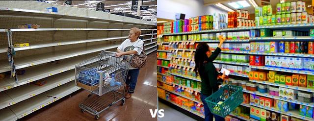 Empty shelf vs Full shelf