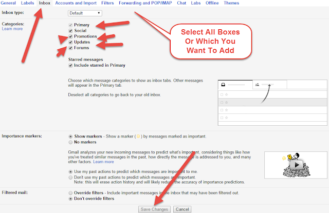 How To Enable Or Disable Gmail Inbox Categories New Tabs