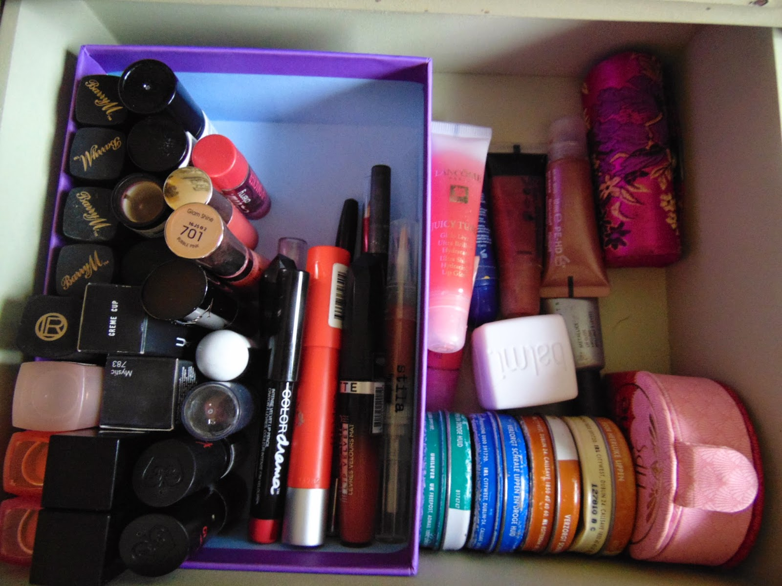 Tip of the week : How i reuse my birch boxes mac creme cup barry m colordrama lancome juicy tubes