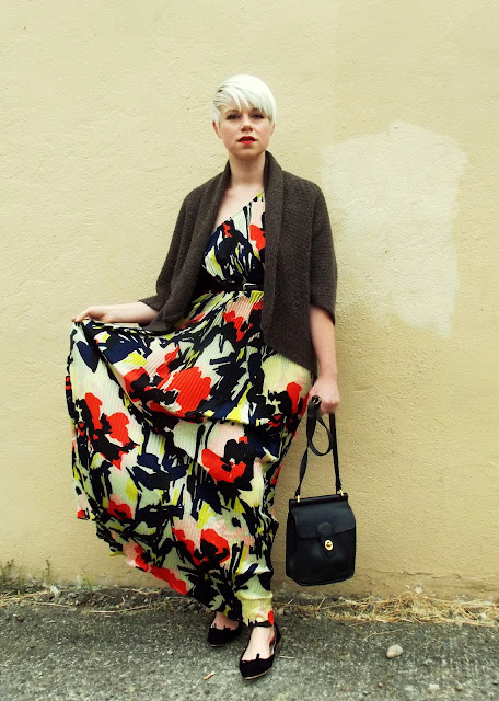 in style, floral maxi dress, seattle street style, fall fashion