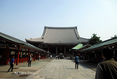 The Main temple hall at the Sensoji Temple, Asakusa- Tokyo
