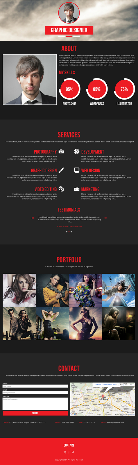 download Portfolio Muse Template