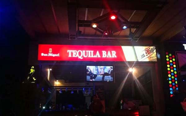 bars lying along the forepart of the Grand Istana Rama Hotel in Kuta Beaches in Bali: Tequila Bar Kuta Bali