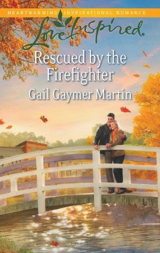 Romance novel Rescued by the Firefighter by Gail Gaymer Martin