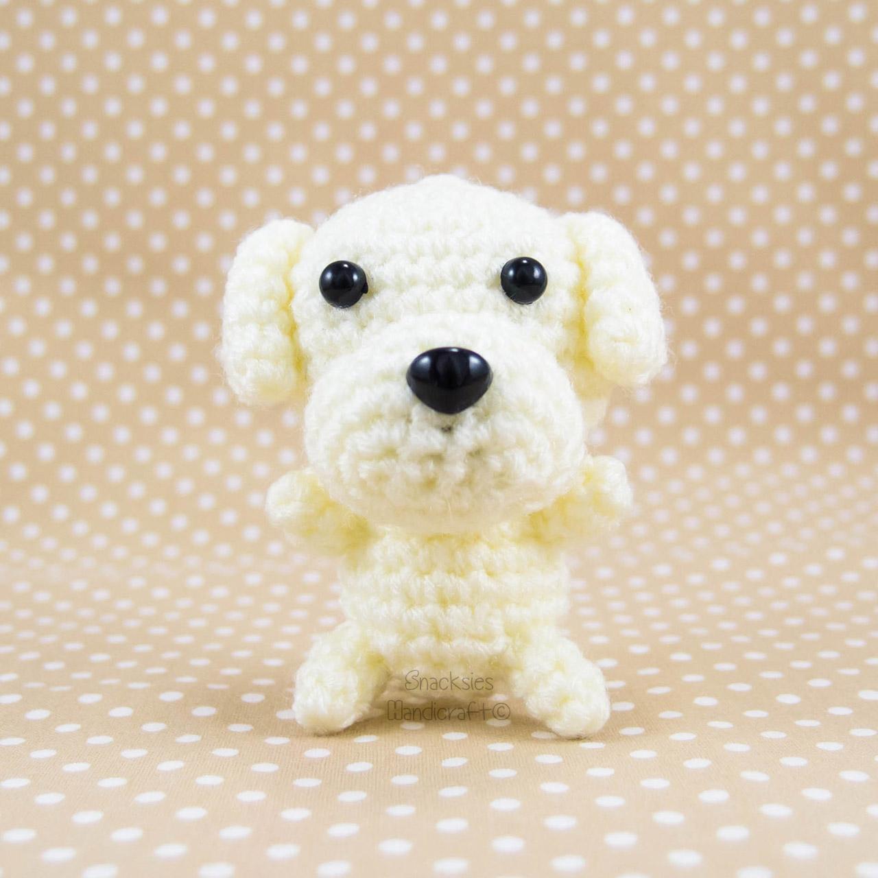 Small Dog Crochet Keychain