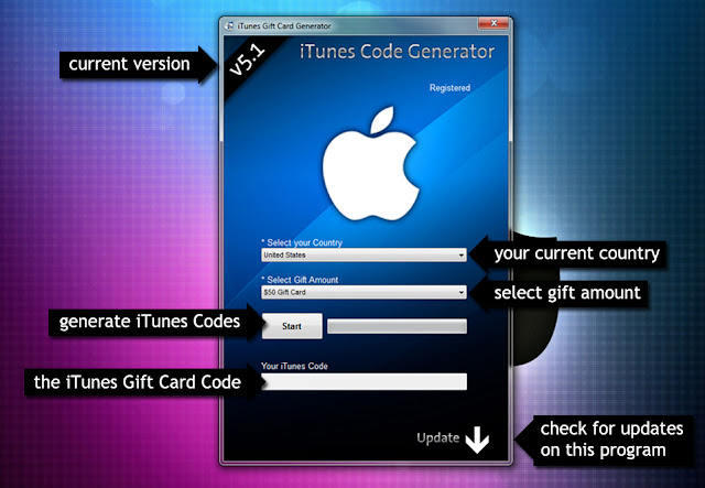 iTunes Gift Card Generator