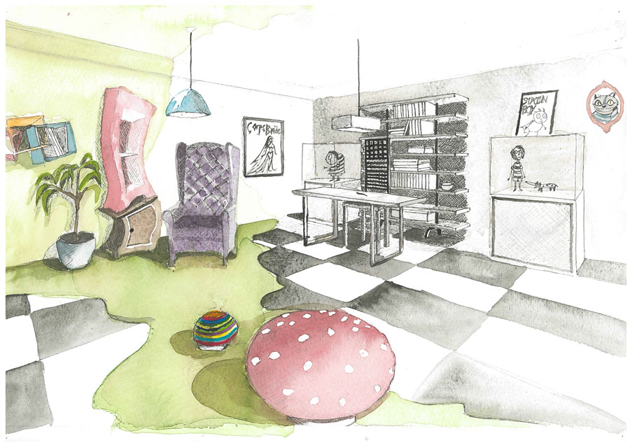 Martamv dibujos realizados durante el curso de 2 de for Despachos de diseno de interiores
