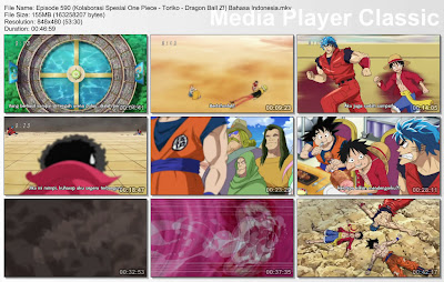 Download Film One Piece Episode 590 (Kolaborasi Spesial One Piece - Toriko - Dragon Ball Z!) Bahasa Indonesia