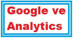 Google ve Analytics