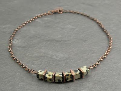 Dalmatian Jasper & Copper Choker