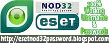 http://nod32sam.com Eset Nod32 username password