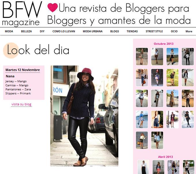 look del día en BFW magazine