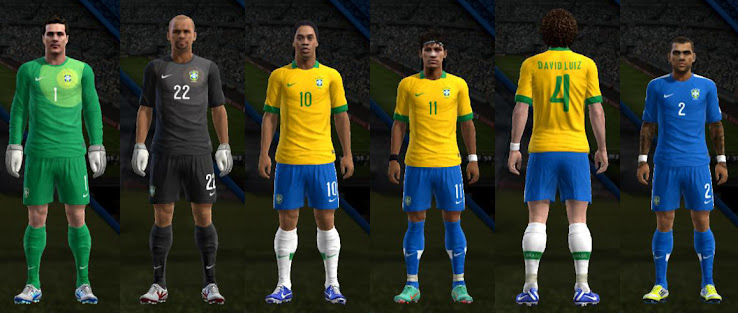 PES 2013 Brazil 13 14 Confed Cup Kit Set by Fatih Cesur