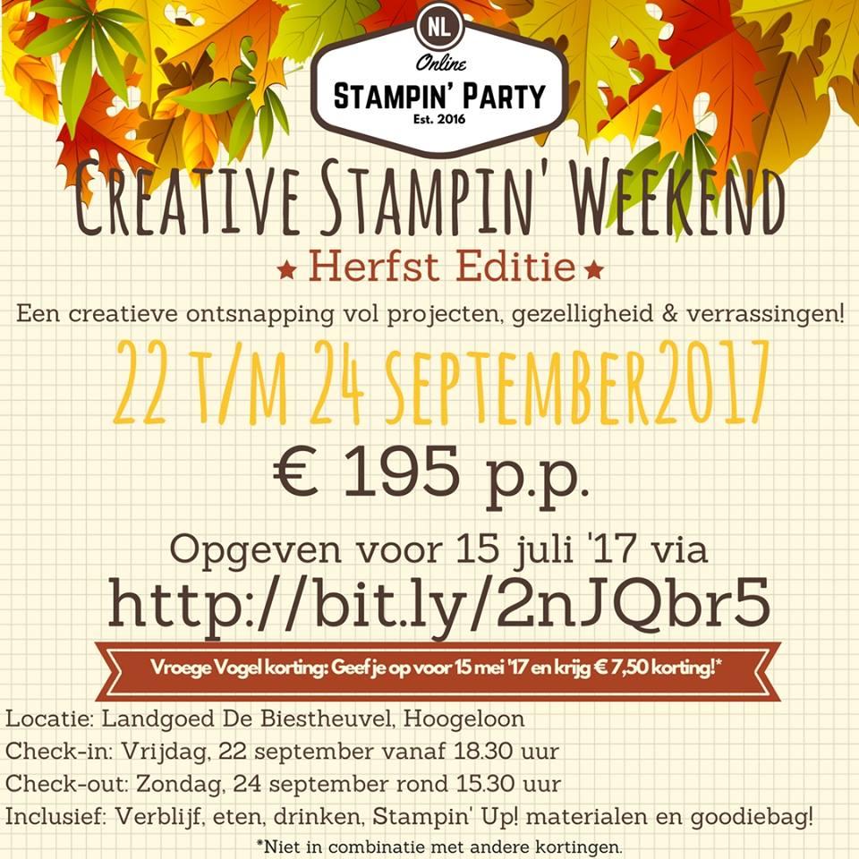 Creative Stampin' Weekend Herfst Editie