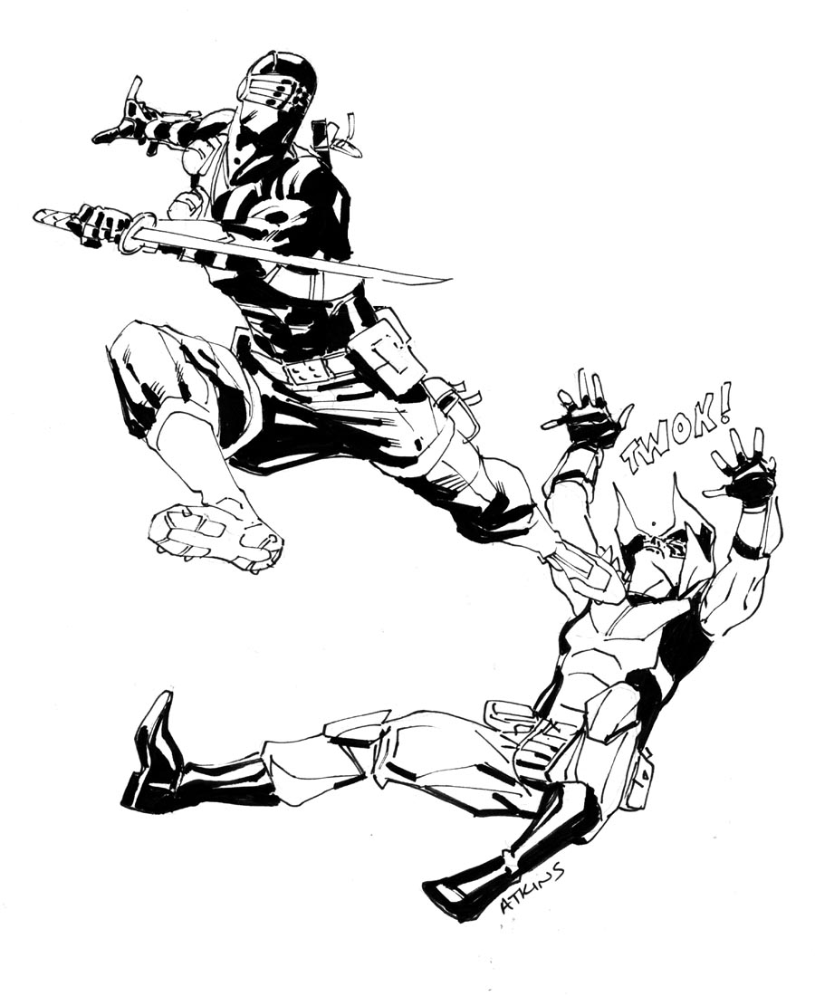 SnakeEyes Vs ZartanWhos Cooler Robert Atkins Art