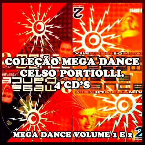 Cds de Dance Antigos - Mega Dance Volumes 1 & 2 (discos duplos) Celso Portiolli