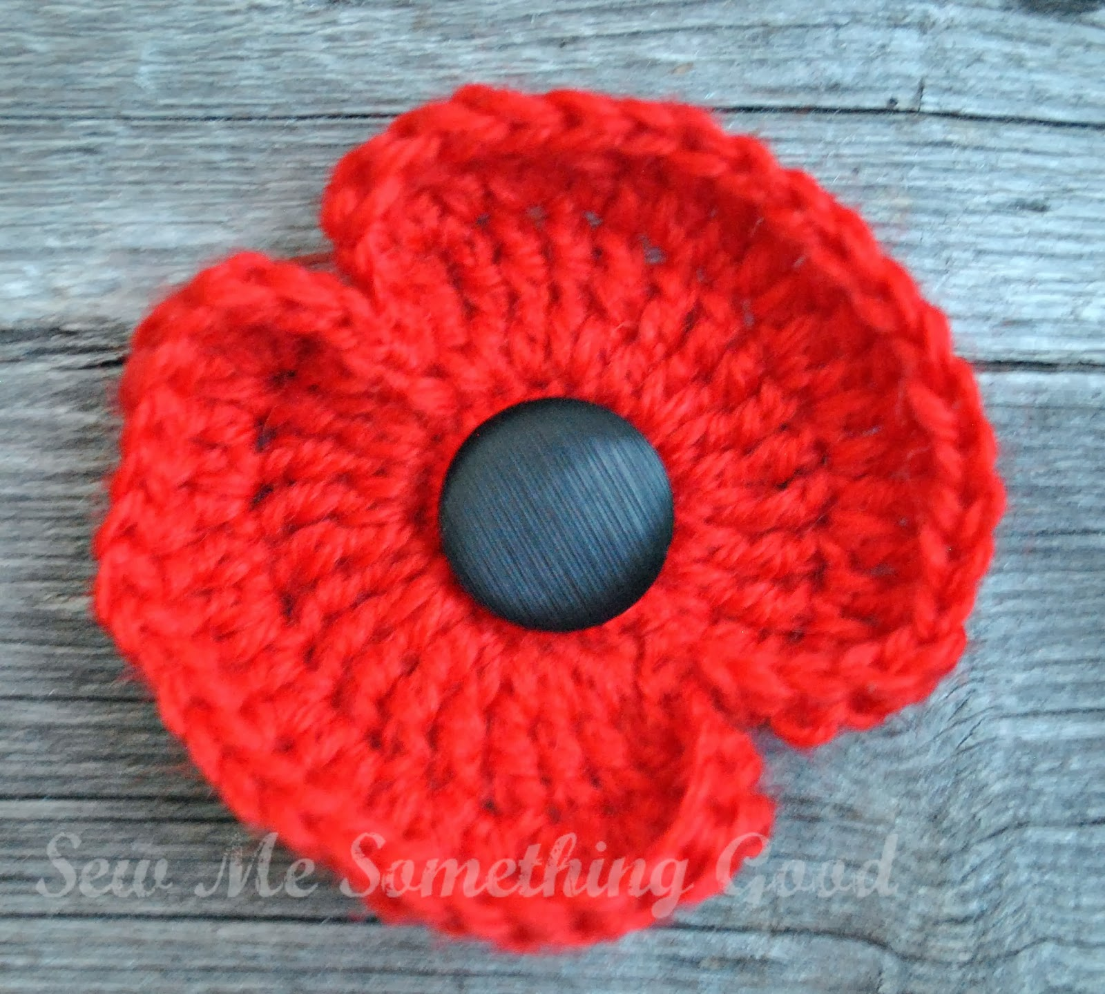 Free Crochet Poppy Brooch Pattern : Sew Me Something Good: A handmade reminder