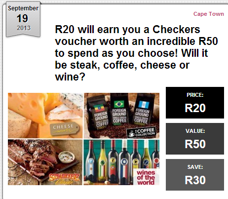 Checkers coupons cape town