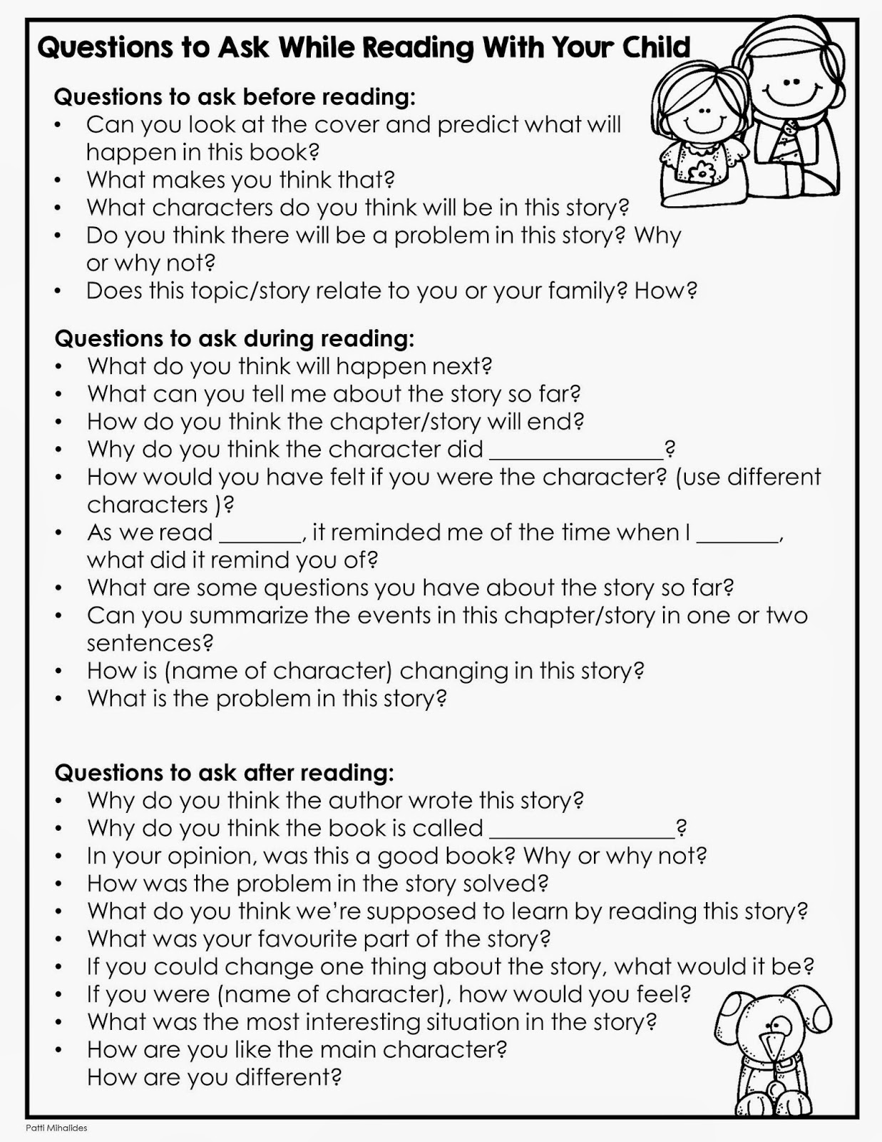 me and my threes  good readers talk about the books they are reading and this set of questions is a great starting point