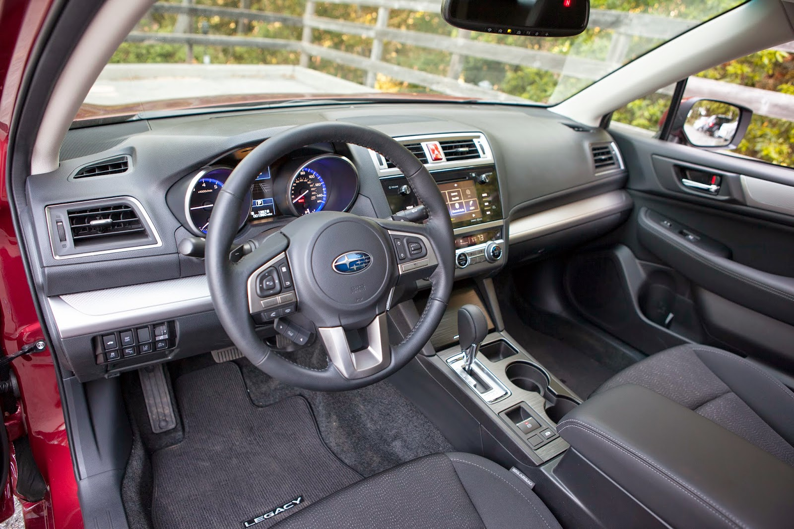 Interior view of 2015 Subaru Legacy