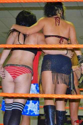 Rare Photos of Paige in a Bikini Contest.