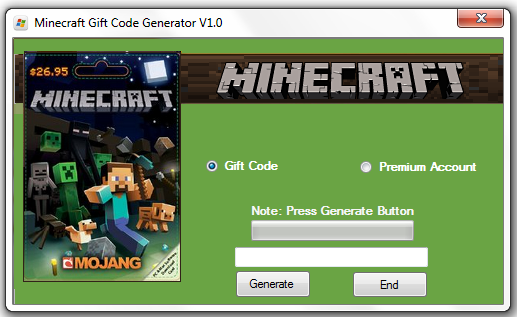 Trying to generate more than one code will result in the suspension of the Minecraft Gift Code Generator.