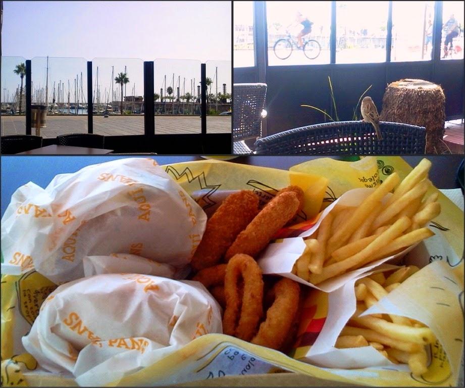 Comiendo en el Port Olimpic, Barcelona -AcericoPop-