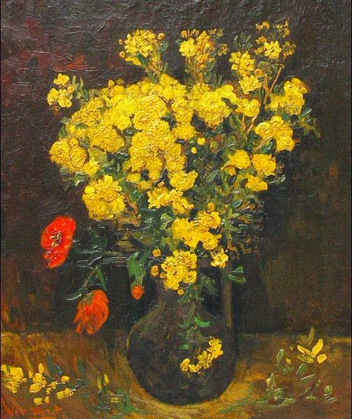 "Picture of ""Poppy Flowers"" by Vincent van Gogh, 1887"