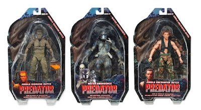 NECA Predator Series 9 Packaged Figures - Jungle Disguise Dutch, Water Emergence Predator & Jungle Encounter Dutch
