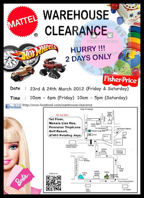 Mattel Warehouse Clearance Sale 2012