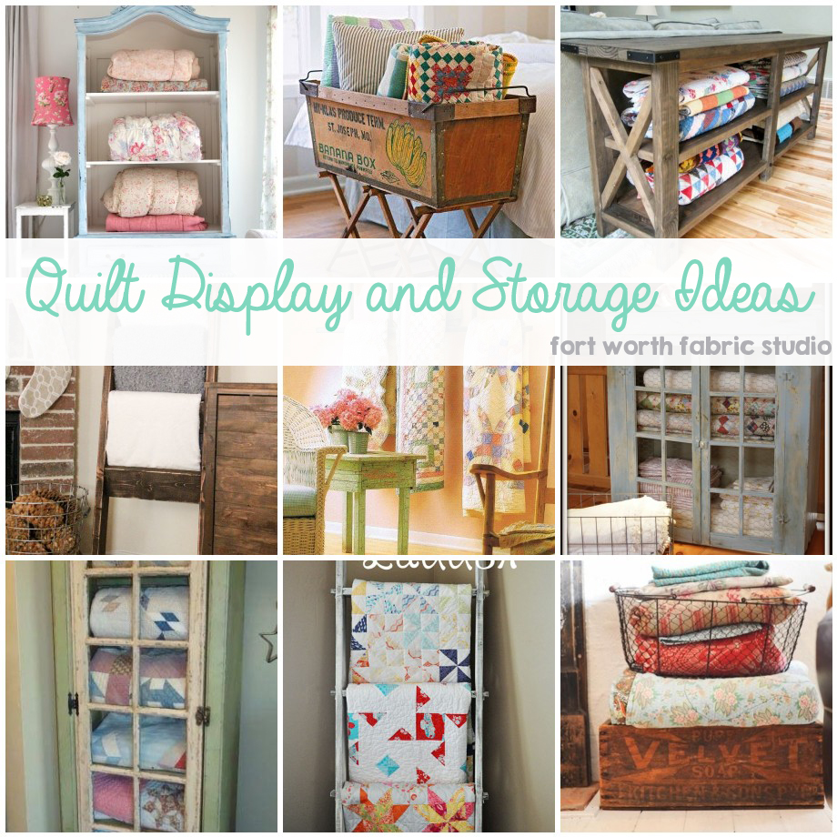 Below Each Picture Is A Link To It S Source Wire Basket Wooden Crate Quilt Storage Table