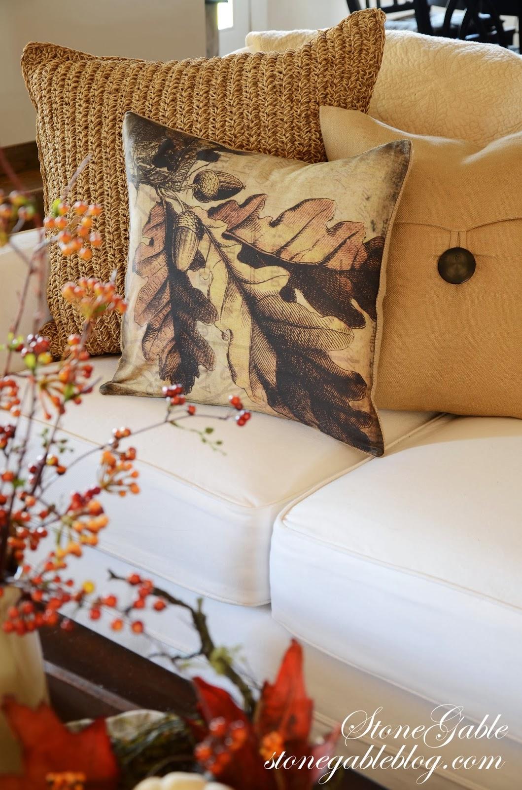 Fall Pillow Love Stonegable