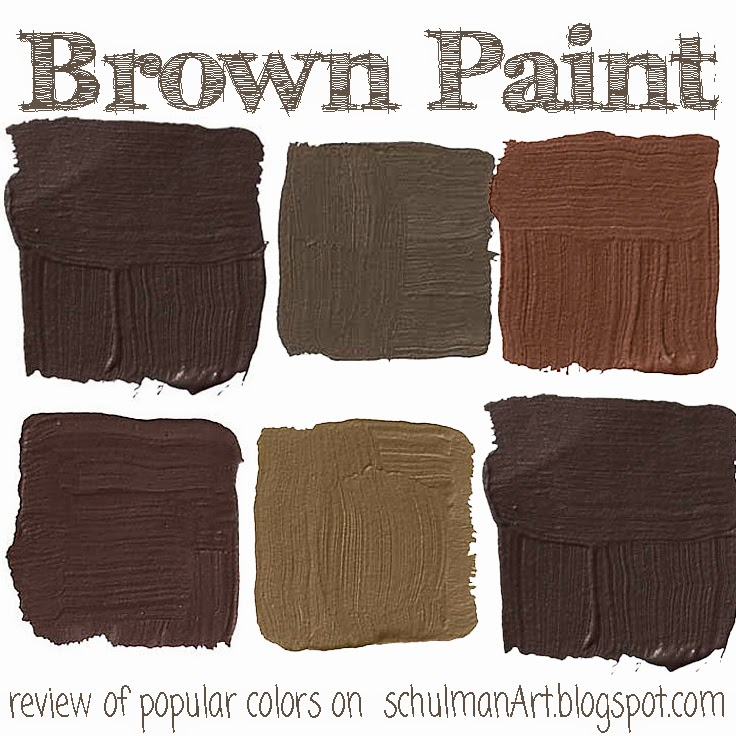 art blog for creative living: the top 7 popular brown paint colors