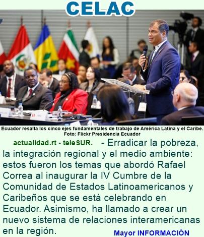 Rafael Correa: La CELAC debe reemplazar a una OEA anacrónica