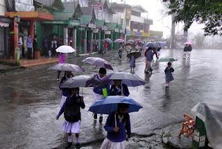 Umbrella in Darjeeling Chowrastha