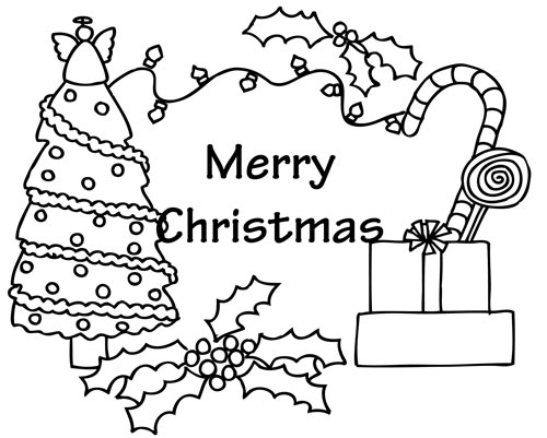 Christmas Card Coloring Pages Printable