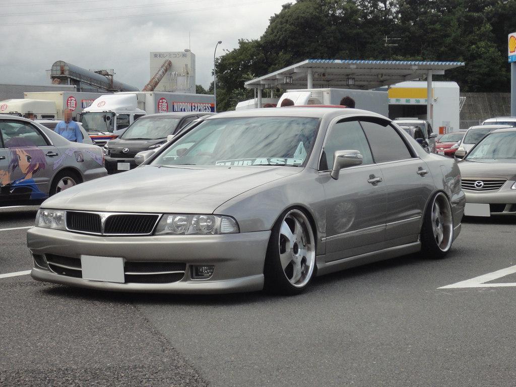 Mitsubishi Diamante II, japoński sedan, samochód, gleba, niskie zawieszenie