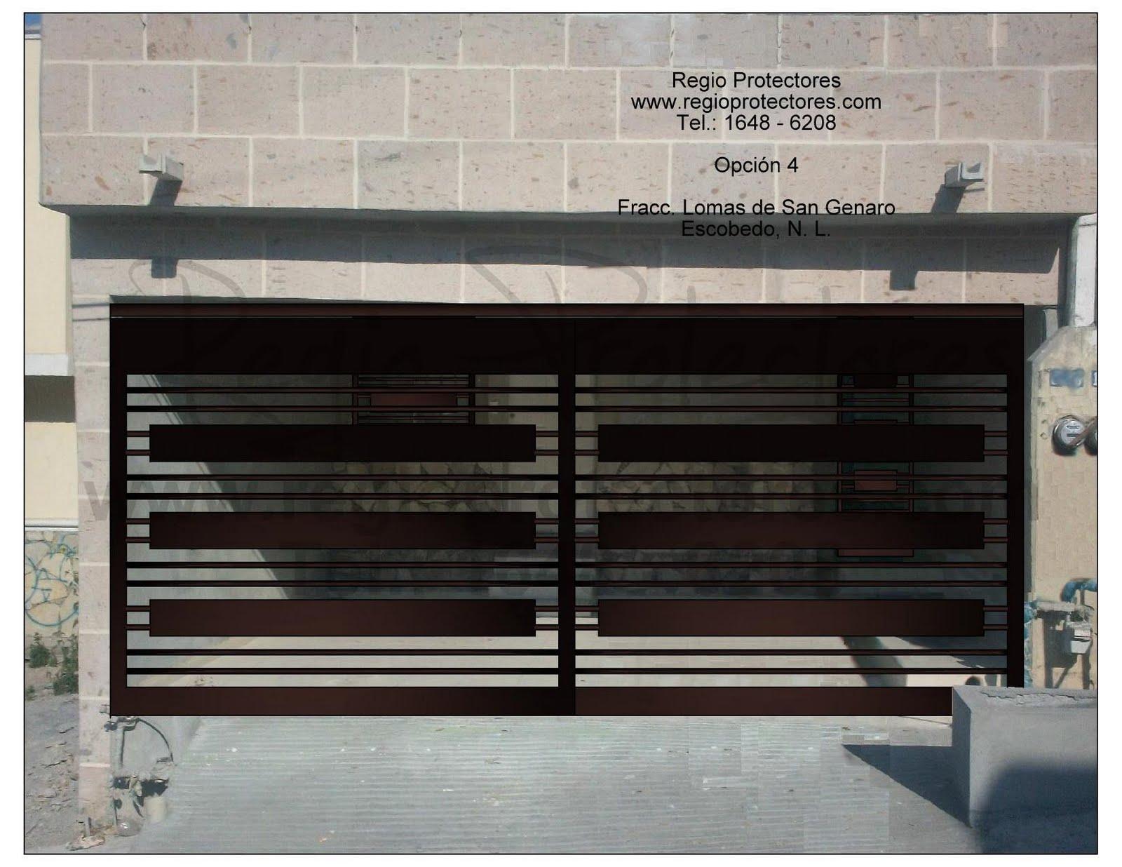 Portón para cochera doble y Protectores, Lomas de San Genaro, Planos ...