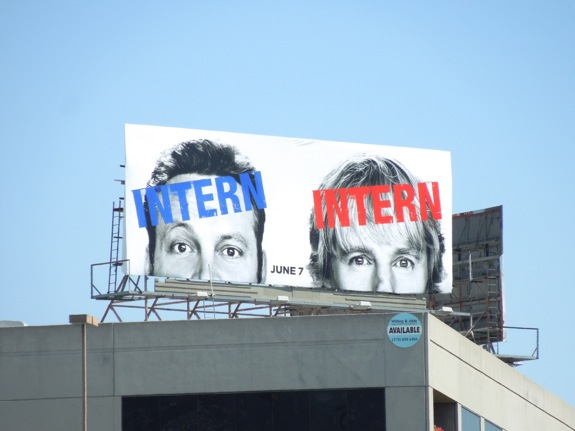 Internship movie teaser billboard