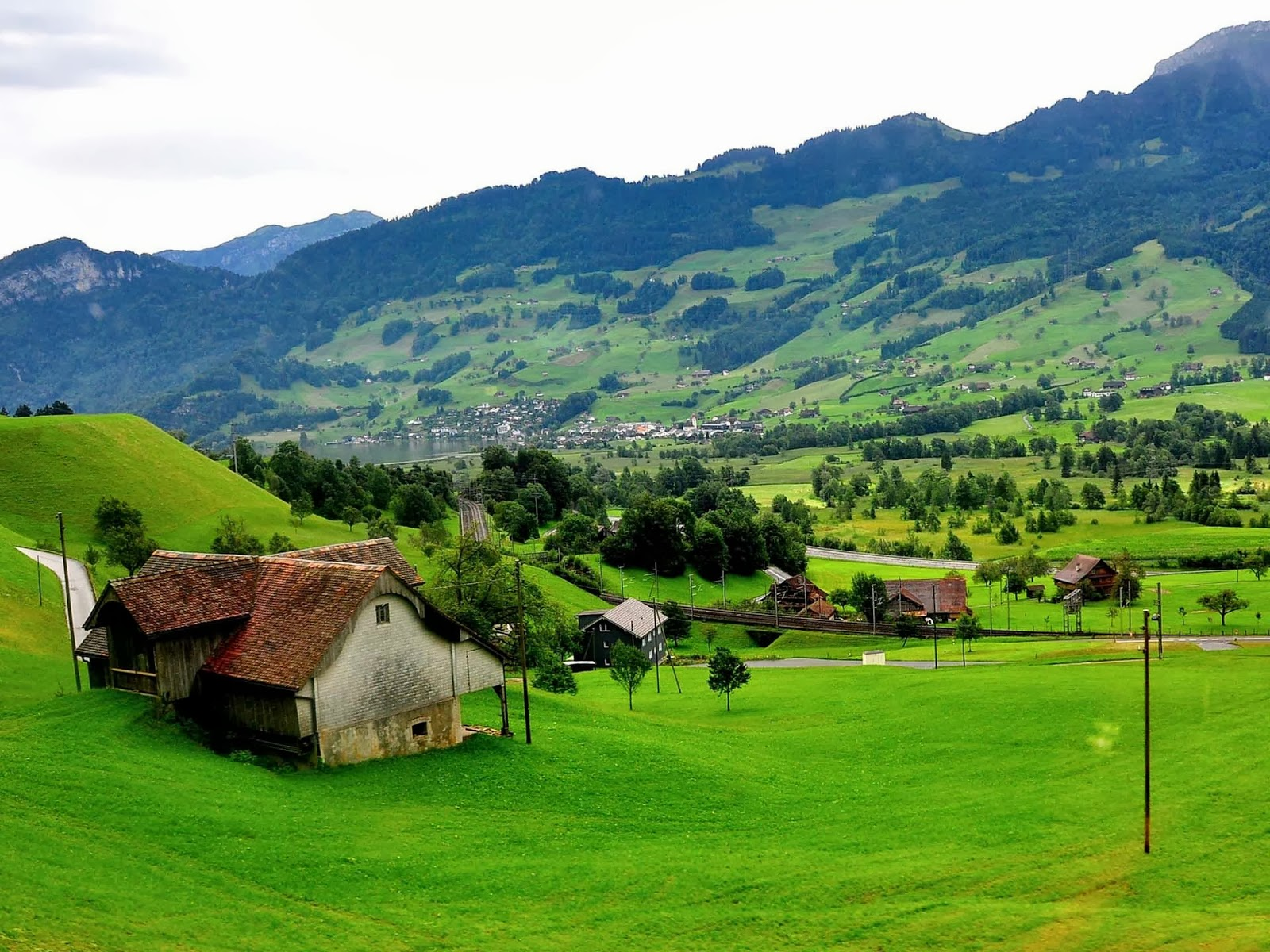 Image Result For Swiss Countryside Wallpaper